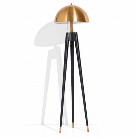 Lámpara de pie moderna de metal y latón cepillado Made in Italy - Peter