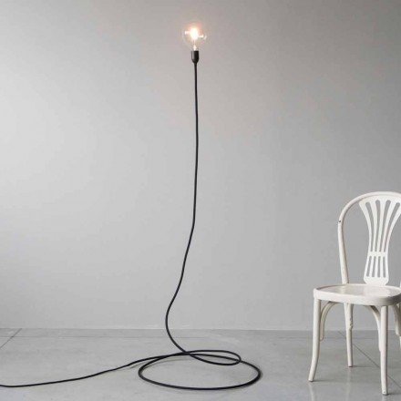 Lámpara de pie moderna en cobre y algodón hechos a mano Made in Italy - Guapa