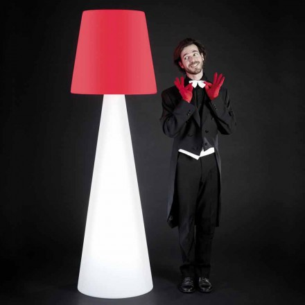 Lámpara de pie Slide Pivot design blanca, fabricada en Italia.