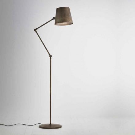 Lámpara de suelo industrial regulable Reporter Il Fanale