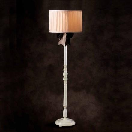 Lámpara de pie chanel marfil en seda