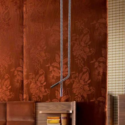 Lámpara de diseño de piel y metal Grilli Snake made in Italy.