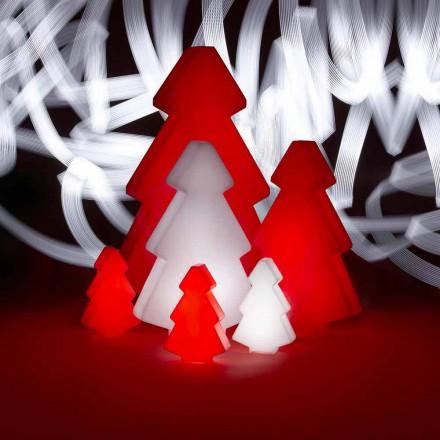 Lámpara decorativa de exterior Slide Lightree, árbol de navidad hecho en Italia.