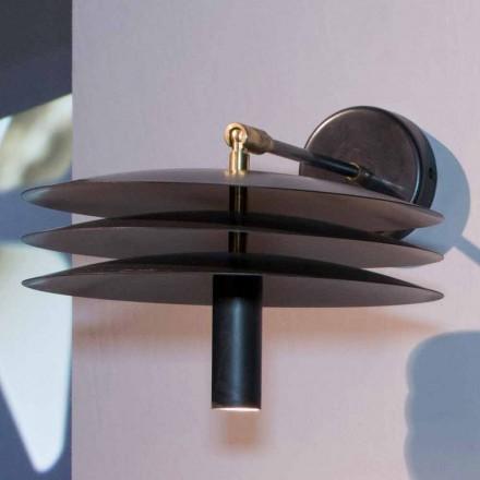 Lámpara Hecha a Mano en Hierro con Acidación Oscura con LED Made in Italy - Solano