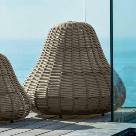 Lámpara grande con diseño moderno Jackie by Talenti en cordón sintético
