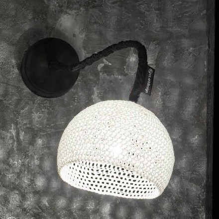 Lámpara de pared de resina y algodón In-es.artdesign Modern A1 texture