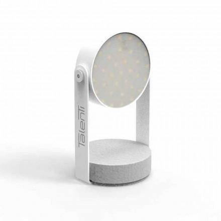 Lámpara de mesa LED para exteriores, aluminio blanco o grafito - Tofee by Talenti