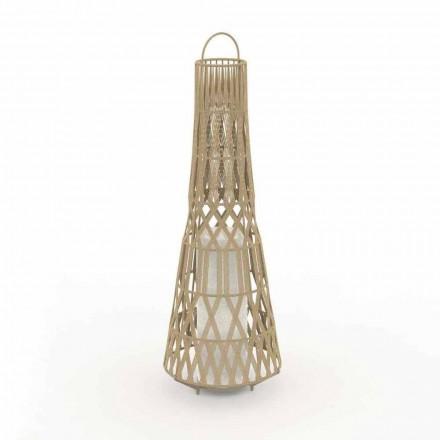 Lámpara de pie de jardín de diseño LED en cuerda, 3 tamaños - Tribal by Talenti