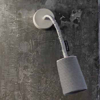 Lámpara de pared moderna In-es.artdesign Paint A Stripe nebulita y lana