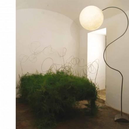 Lámpara de pie moderna en nebulita in-es.artdesign Luna H210cm