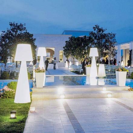 Lámpara de pie para exterior moderna, blanca, modelo Slide Pivot, fabricada en Italia.