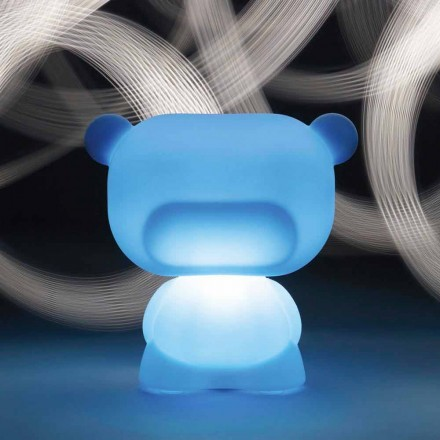 Lámpara de sobremesa luminosa con forma de oso Slide Pure, fabricada en Italia.