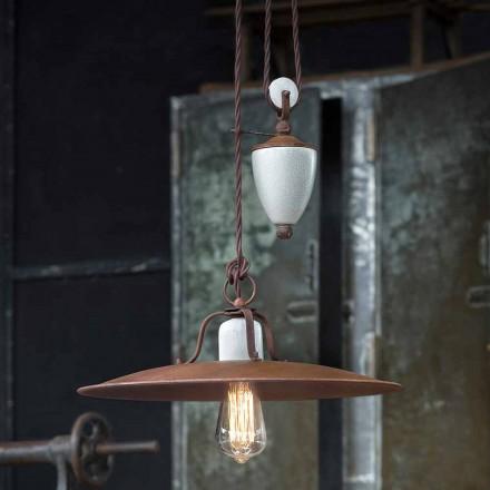artesanía y cerámica lámpara hacia abajo y metal Kristen Ferroluce