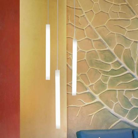 Lámpara de diseño Colgante Slide Flux, en metacrilato.