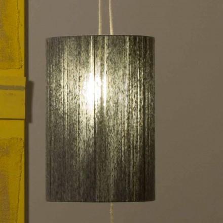 Lámpara de pie / suspendida de latón y lana fabricada en Italia Evita