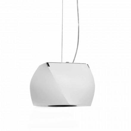 Lámpara suspendida de diseño en metal y resina blanca Made in Italy - Beijing