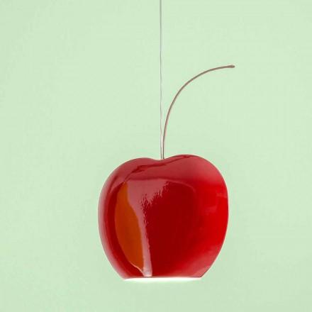 Lámpara de cerámica suspendida en cerezo - Frutas Aldo Bernardi