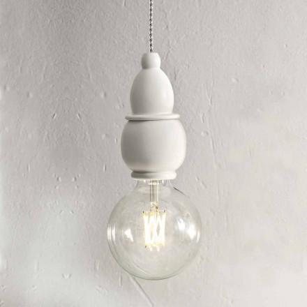 Lámpara colgante de cerámica Shabby Chic con cable de 3 m - Fate Aldo Bernardi