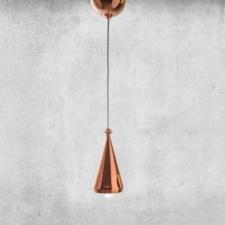 Lámpara LED suspendida de diseño en cerámica - Lustrini L2 Aldo Bernardi