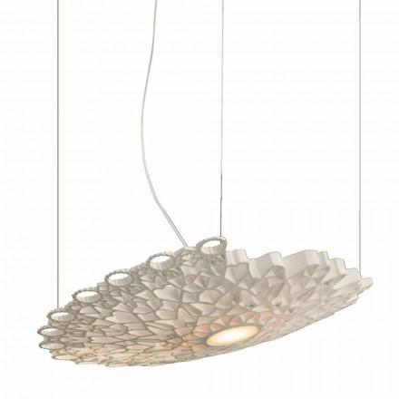 Lámpara Suspendida en Tecnopolímero Blanco Diseño 2 Dimensiones - Catedral