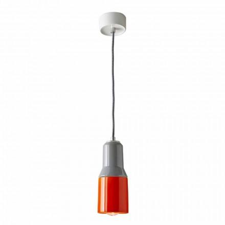Lámpara suspendida moderna en cerámica y aluminio fabricada en Italia Asia.