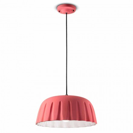Lámpara colgante vintage de cerámica Made in Italy - Ferroluce Madame Grès