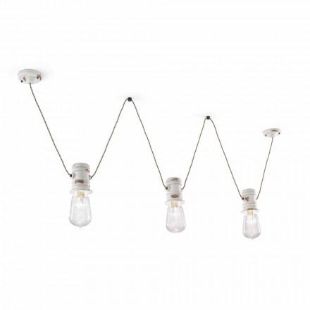 De la lámpara tres focos suspensión artesano Jayda Ferroluce