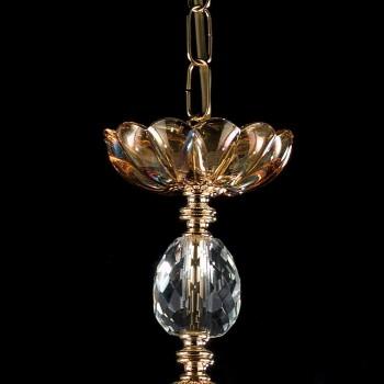 araña clásico en vidrio y cristal 3 luces Belle, fabricado en Italia