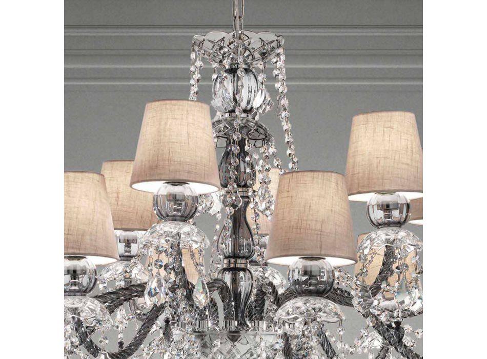 Araña artesanal de vidrio veneciano con 12 luces, Made in Italy - Milagros