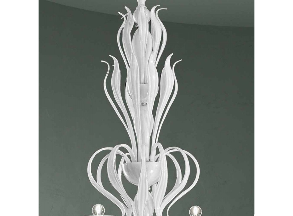 Araña de 12 luces Venecia de cristal hecha a mano en Italia - Agustina
