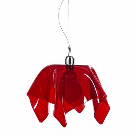 Araña de diseño transparente rojo con Daphne hecha en cortinas de Italia