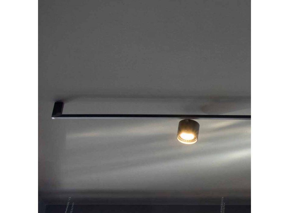Araña de diseño artesanal con 3 luces ajustables Made in Italy - Pamplona