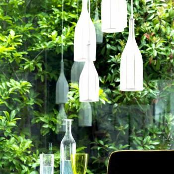 Araña de diseño con 6 pantallas de lámparas Grilli Mathusalem hecha en Italia