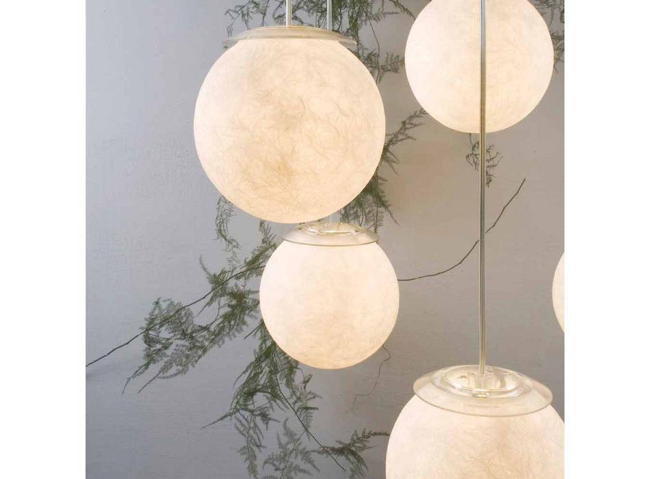 Araña de diseño moderno In-es.artdesign Sei Lune en nebulita