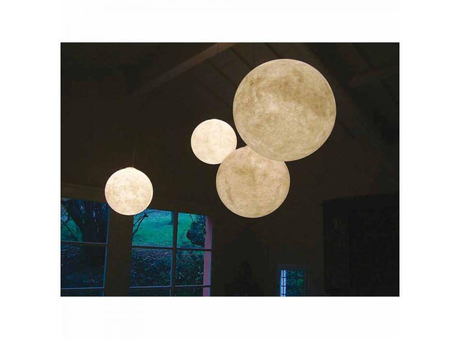 Araña de diseño moderno In-es.artdesign White moon in nebulite