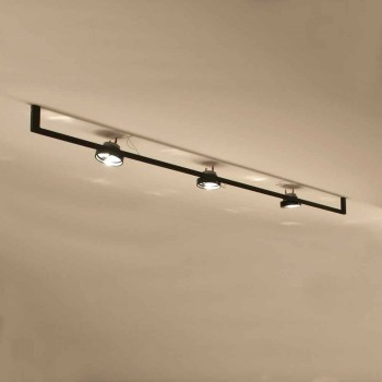 Araña de luces moderna hecha a mano con estructura de hierro Made in Italy - Pamplona