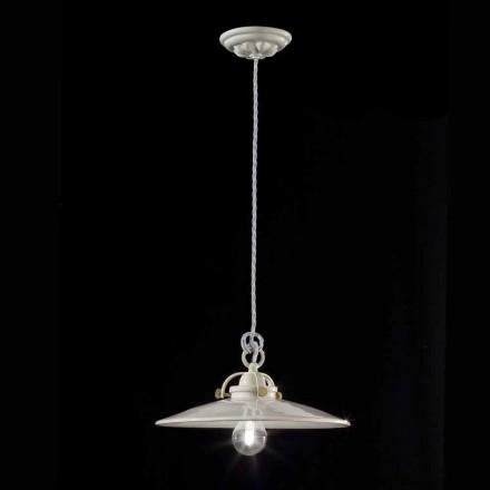 lámpara industrial de la vendimia en cerámica brillante Gloria Ferroluce