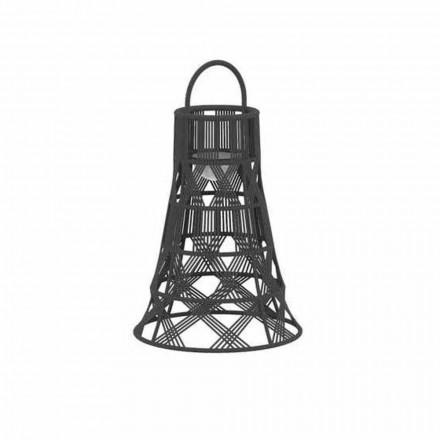 Linterna LED para exteriores en cuerda y diseño de lujo de aluminio - Tribal by Talenti