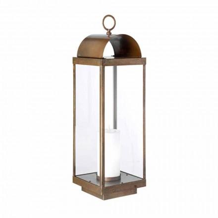 Linterna de jardín de suelo con vela Il Fanale