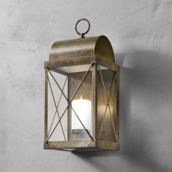 pequeña linterna al aire libre de hierro o latón Il Fanale