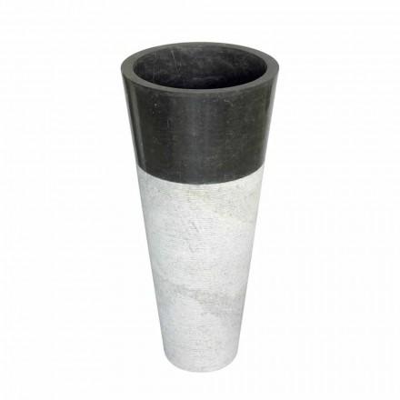 Lavabo de columna cónico de piedra natural negra, Raja