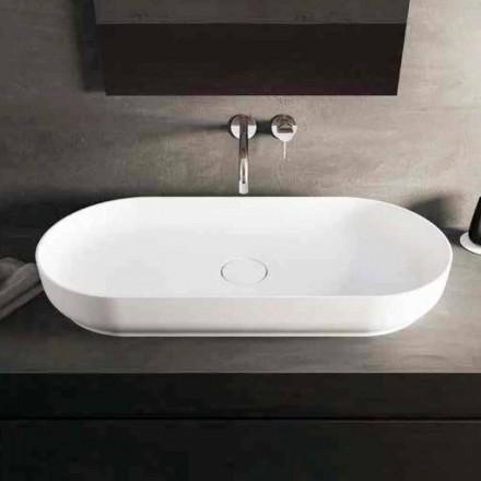 Lavabo sobre encimera de diseño moderno Dalmine Maxi, hecho en Italia