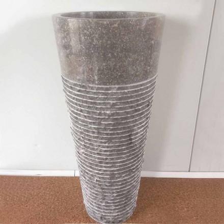 Lavabo de pedestal cónico de piedra IGA, pieza única de diseño