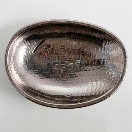 Diseño lavabo de cerámica de plata hecho en Italia Brillante