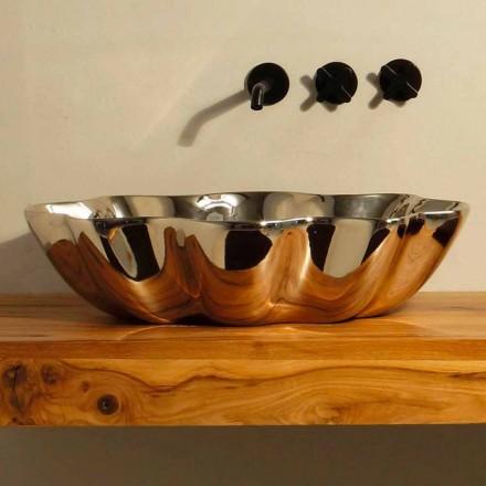 Lavabo de cerámica de diseño moderno fabricado en Italia Cubo