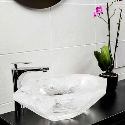 Lavabo sobre encimera hecho a mano en cristal de roca - Falvaterra