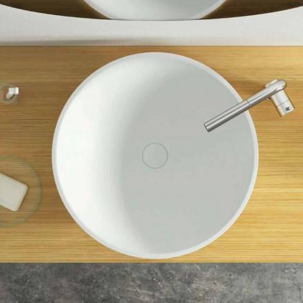 Lavabo moderno de encimera circular hecho en Italia, Donnas