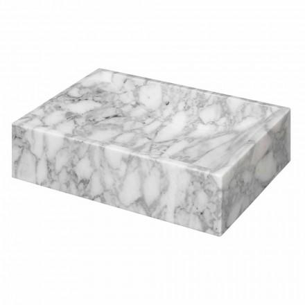 Lavabo sobre encimera de mármol cuadrado de Carrara Ma de Italia - Canova