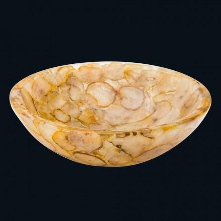 Lavabo sobrencimera resina artificial y piedra ágata Petra