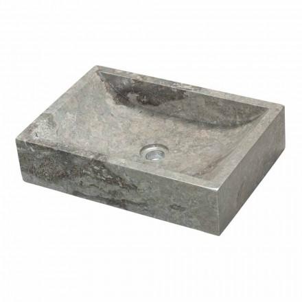 Lavabo rectangular sobre encimera de piedra natural, Giacarta